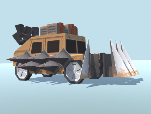 SteamPunk vehicles for post apocalyptic