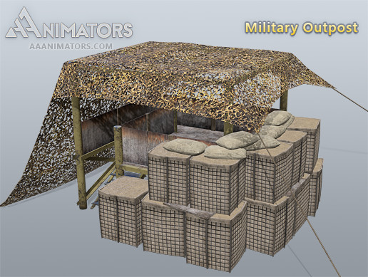 Low Poly Military Outpost pack