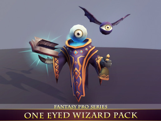 One Eyed Wizard Pack | Unity AssetStore Price down information beta