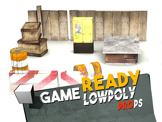 Game Ready Lowpoly Props