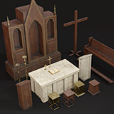 Old Church Props by SpaceZeta