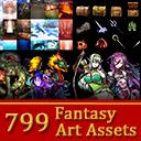 2D Fantasy Art Assets Full Pack
