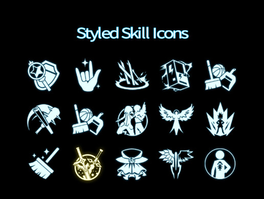Styled Skill Icons