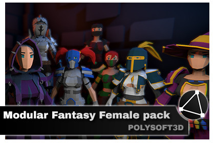POLYART - Modular RPG Fantasy female pack