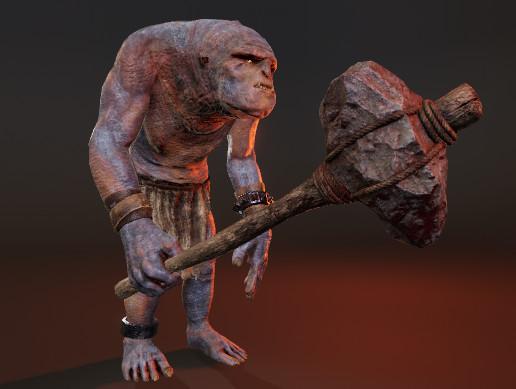 PBR Troll Fantasy Monster