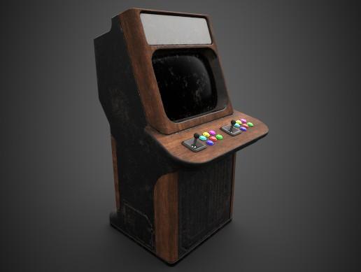 Dirty Arcade Cabinet by Cartti