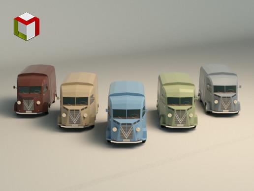 Low Poly Transporter Van 02