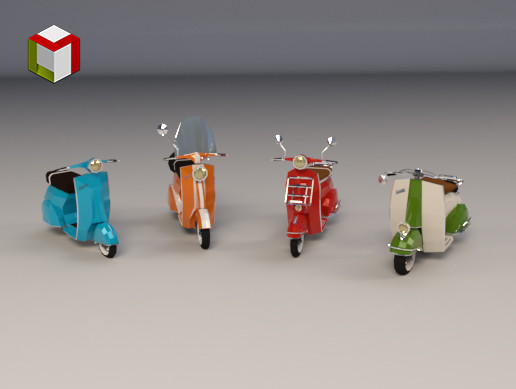 Low Poly Scooter Pack