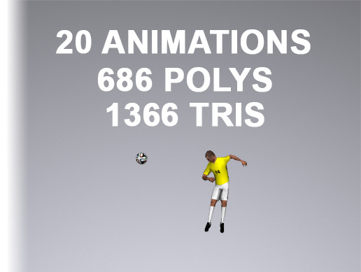 Soccer Player 1366 Tris