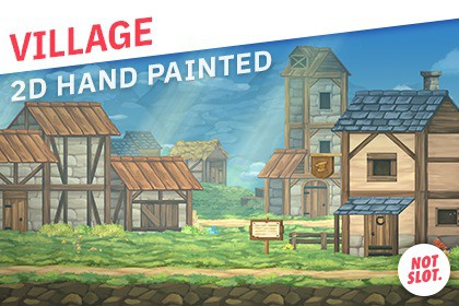 Village 2D Hand Painted Pack