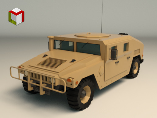 Low Poly Military 4x4 01
