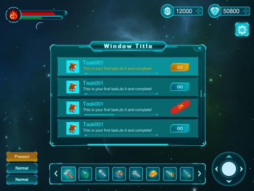 Basic Sci-Fi GUI pack - Asset Store