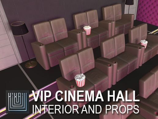VIP cinema hall - interior and props