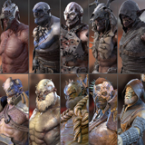 14 Characters Orcs (Pack)
