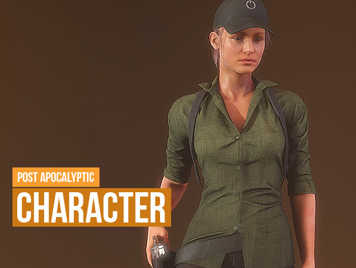 Post apocaliptic survival girl character