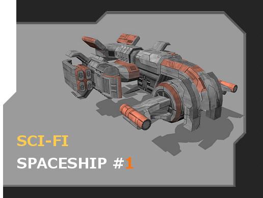 Sci-Fi Spaceship #1 - Asset Store