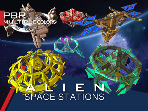 Alien Modular Space Stations