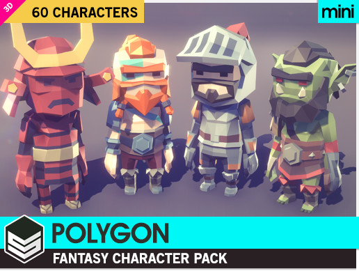 POLYGON MINI - Fantasy Character Pack