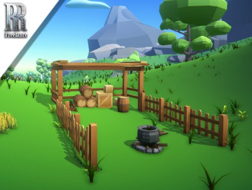 Low Poly Environment+Props