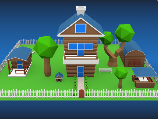 Low Poly Country House