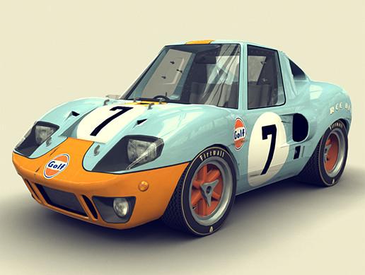 Cartoon Prototype Car