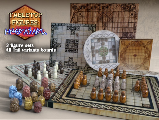 Tabletop Figures Hnefatafl Viking Chess Asset Store