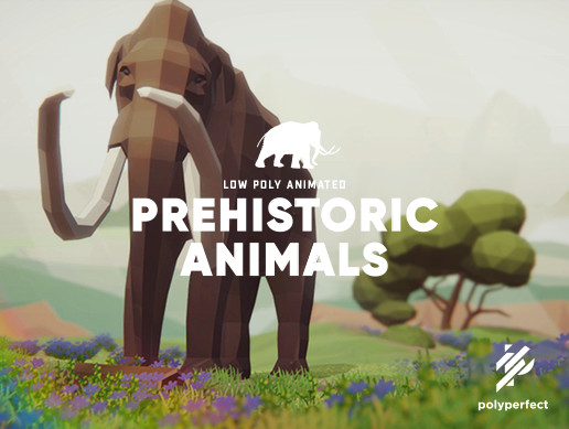 Low Poly Animated Prehistoric Animals