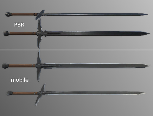 PBR Fantasy long Sword