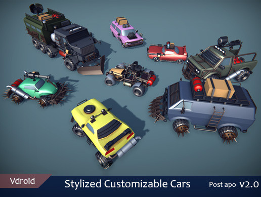 Stylized Customizable Cars (post apo v2)