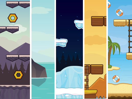 Game Vectors - 10 Backgrounds