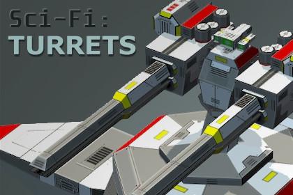 Lowpoly Sci-Fi: Modular Turrets