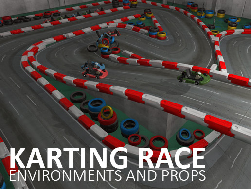 Karting race - environments and props
