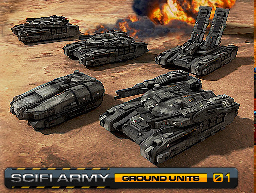Sci Fi Army / Ground Units 01