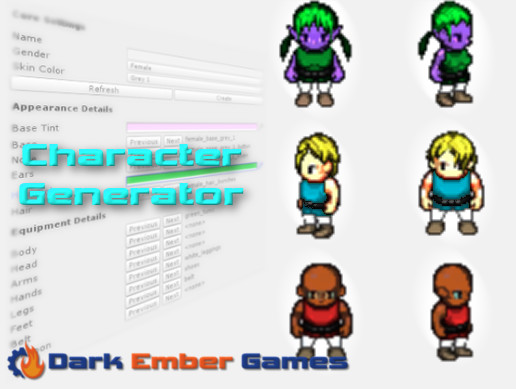 2D RPG Character Generator - Asset Store