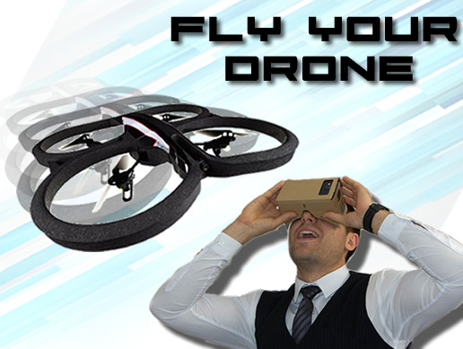 Cardboard VR Quadcopter Drone Fly Controller