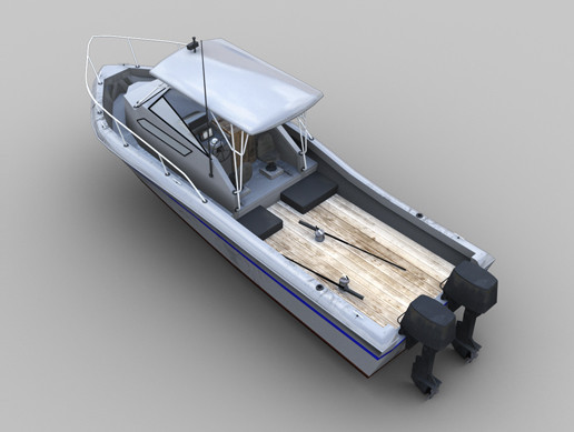 Fishing Boat Lowpoly