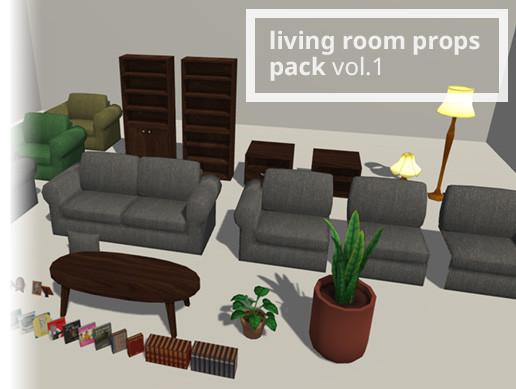 Living Room props pack vol.1