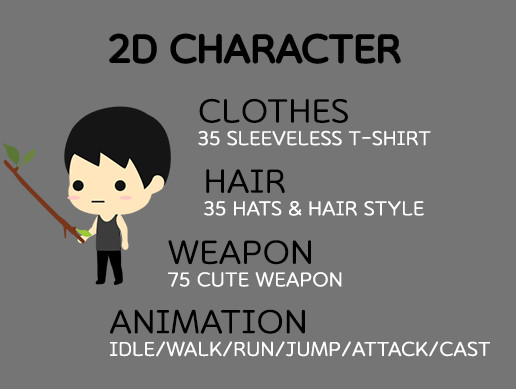 2D Character Spine Animation & item