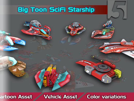 Big Toon SciFi Star Ships