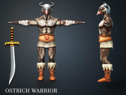 Ostrich Warrior Pack
