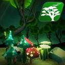 Glowing Stylized Mushroom