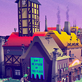 Cartoon LowPoly City - PolyVania Vampiric Town Pack