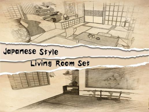 Japanese Style Living Room Set - Asset Store