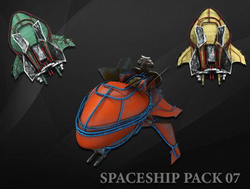 3D Spaceship Pack Vol 07