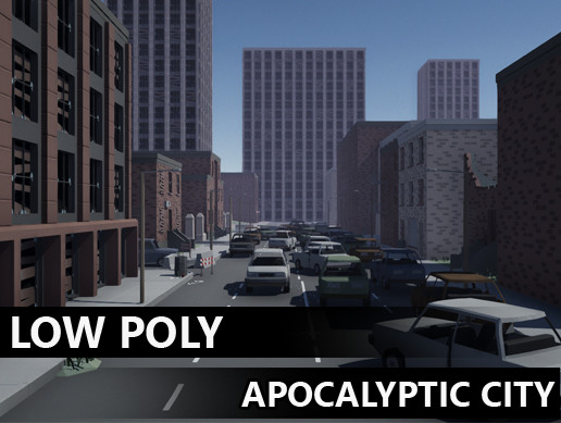Low Poly Apocalyptic city