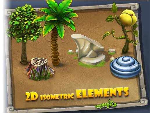 2D Isometric Elements