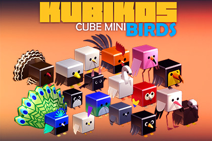 KUBIKOS - Animated Cube Mini BIRDS