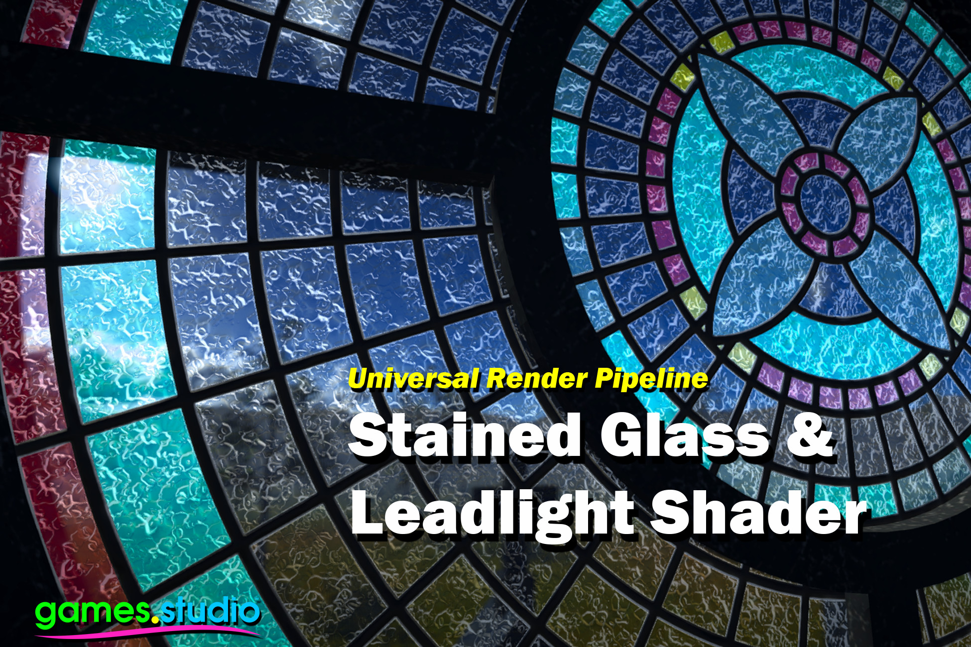 Stained Glass and Leadlight Shader with Bluestone Church URP