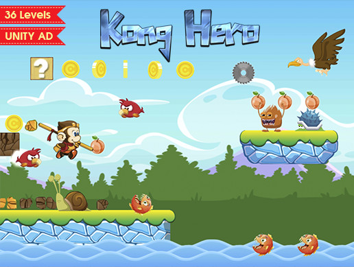 Kong Hero – Platformer Complete Game Template