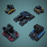 Modular Stylized Tanks Pack